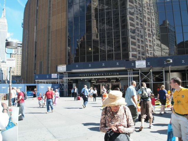 View of the 8th Avenue and 33rd Street Entrance to Penn Station